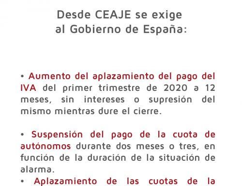 Desde CEAJE se exige al Gobierno de España…