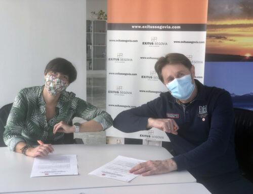 AJE Segovia y el Centro de Negocios Exitus firman un Convenio decolaboración